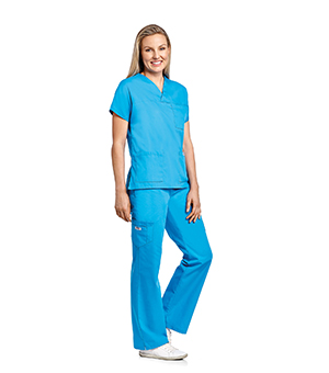 V-NECK THREE POCKET DOLMAN SLEEVE FLIP FLAP SCRUB SETS