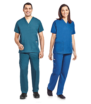 UNISEX 8 POCKET DRAWSTRING/ELASTIC SCRUB SETS