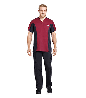 MENS TWO TONE V-NECK SCRUB SETS