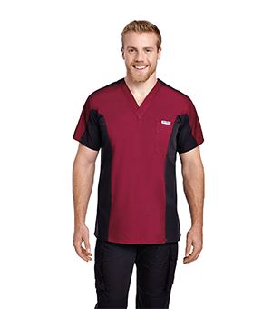 MENS TWO TONE SCRUB TOPS