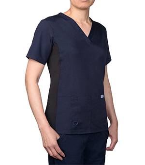 STRETCH BACK V NECK SCRUB TOPS