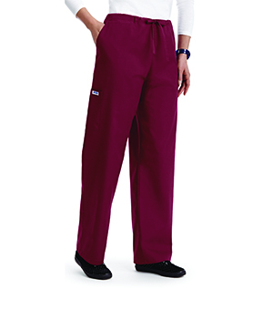 UNISEX DRAWSTRING SCRUB PANTS WITH 5 POCKETS