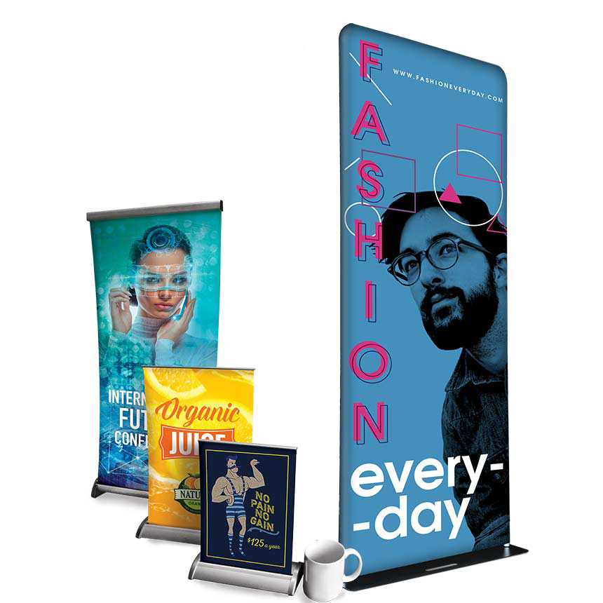 10MIL VIYNL INDOOR BANNER WITH RETRACTABLE STAND (48X80)