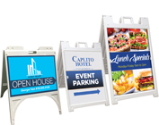 OUTDOOR SIGN STAND (A-FRAME) + PRINT